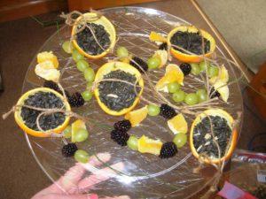 photo of fruit bird feeders