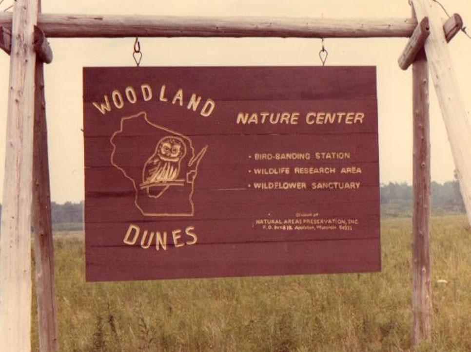 Woodland Dunes Sign