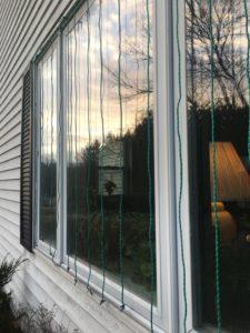 photo of zen curtains to prevent window strikes