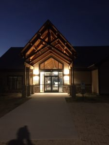 photo of nature center at night